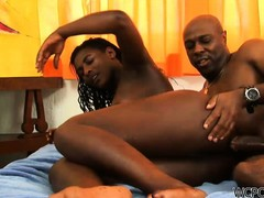 Tight ebony pussy has bean dreaming to that kind of fucking