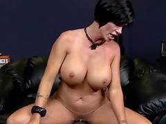 Large tit milf Shay Fox rides black dick