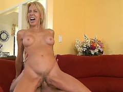 Blonde Erica Lauren is good on her way to satisfy her hard cocked fuck buddy Chris Johnson